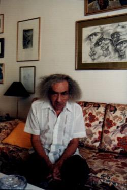 Faludy György otthonában, 2001 nyarán (fotók: Gergely István)