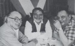 Hernádi Gyula, Gyurkovics és Galsai Pongrác (a Grimasz első számának megjelenésekor)