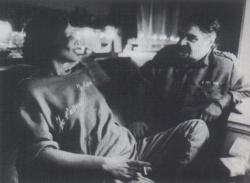 Az előadás szünetében, Töreky Zsuzsával, Veszprém, 1986