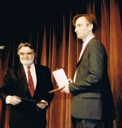 Mácsai Pállal a Mensáros-dij átadásán, 1996