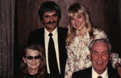 Feleségével, Kilián Katalinnal és a Lundkvist-házaspárral