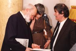 Schéner Mihály és Juhász Ferenc (fotó: a Széchenyi Irodalmi és Művészeti Akadémia Archívuma, Fáy Béla felvétele)