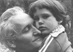 András fiával, 1975