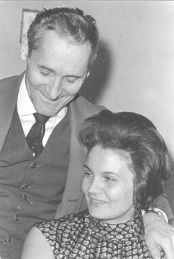 Feleségével, Tichy Magdolnával a hatvanas évek elején