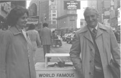 Feleségével, Tichy Magdolnával New Yorkban, 1981