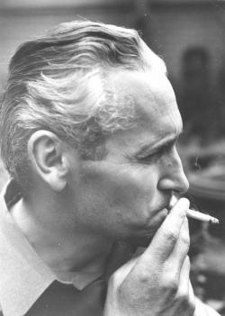 Kányádi Sándor a Fától fáig című kötet borítófotója, 1970