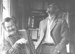 Pál Lajos költővel Korondon, az 1970-es évek derekán