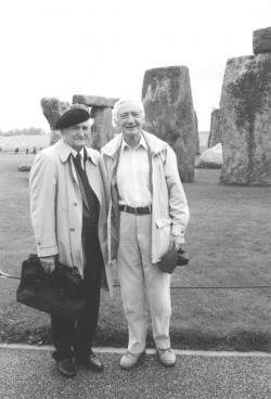 Zollman Péterrel, egyik angol fordítójával, Anglia, 1999