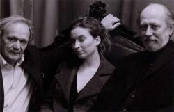 Feleségével, Dorkával és Joachim Sartoriussal, a Berliner Festspiele intendánsával Berlinben, 2007-ben
