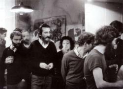 A Mozgó Világ c. havilap betiltása idején rendezett egyik búcsútalálkozón, Budapesten, 1983-ban