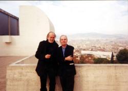 Jaume Vallcorbával, spanyol kiadójával 2001-ben, Barcelonában