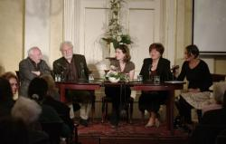 Ágh István, Szakonyi Károly, Kovács Eszter, Komáromi Gabriella és Benedek Anna a rendezvényen (fotók: Dobóczy Zsolt, Gál Csaba)