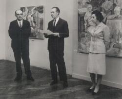 Szinte Gábor festőművész kiállításának megnyitója (1970)