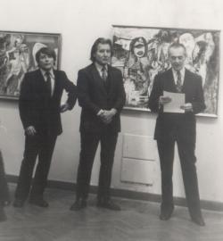 Sugár Gyula festőművész kiállításának megnyitója az Újpesti Galériában (1988 május)
