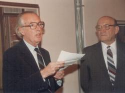 Mácsai István kiállításmegnyitója a Csontváry-teremben (1988 október)