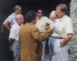 A Széchenyi Akadémia előkészítő megbeszélésén, Kosáry Domokos dörgicsei házában (1991 augusztus)
