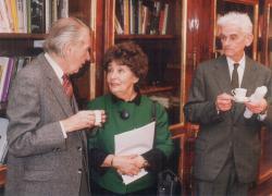 Mándy Iván, Szabó Magda és Újfalussy József a Széchenyi Akadémián (1993)