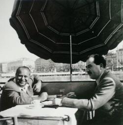 Gimes Miklóssal Genfben, 1954