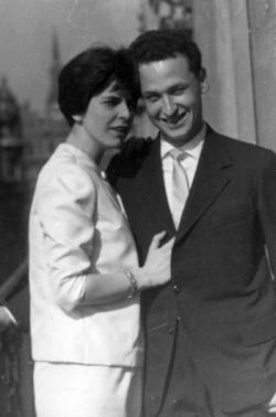 Feleségével, Orbán Júliával