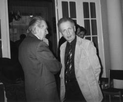 Mándy Iván és Orbán Ottó az Írószövetségben