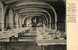 A kőszegi katonaiskola ebédlője