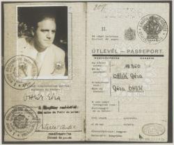 Útlevele 1947-ből