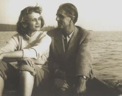 Nemes Nagy Ágnes és Ottlik Géza, Szigliget, 1957 október