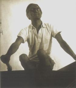 A Tabu nevű vitorláson, Balaton, 1958 június