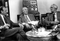 Lengyel Balázs, Mándy Iván és Ottlik Géza egy közös esten, Budapest, 1984 december