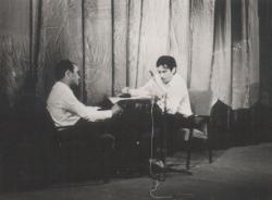 Első nyilvános felolvasóestje, Lázár (Lazits) Lászlóval (1968)