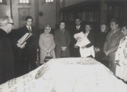 Lánya, Ágnes keresztelője a Farkas utcai református templomban (Kolozsvár, 1972)