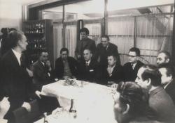 Erdélyi és újvidéki írókkal az újvidéki Magyar Szó szerkesztőségében (1973)