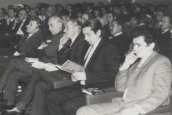 Konferencián Újvidéken (Farkas Árpád, Páskándi Géza, Kányádi Sándor, Sütő András, 1973)