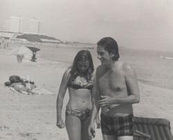 Feleségével a román tengerparton (1973)