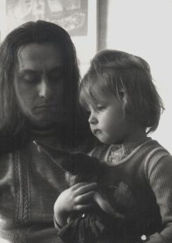 Lányával, Ágnessel (1975)