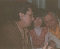 Barátjával, Boglár Lajos antropológussal (1985)