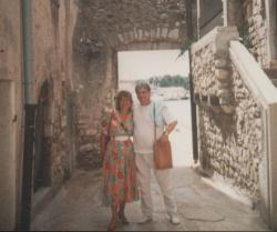 Feleségével Dél-Olaszországban (1986)