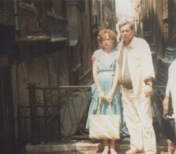 Lányával, Ágnessel Velencében (1987)
