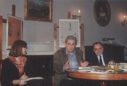Havas Judit, Páskándi Géza és Láng Gusztáv a Petőfi Irodalmi Múzeumban (1991)