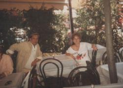 Lányával, Ágnessel Bolognában