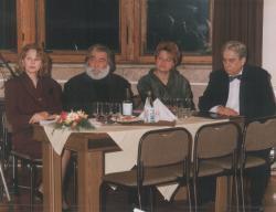 Szegedi Erika, Sára Sándor, Páskándi Anikó és Páskándi Géza a Magyar Művészeti Akadémia rendezvényén (1992)