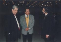 Raksányi Gellért, Páskándi Géza és Ivánka Csaba a Kossuth-díj átvétele után (1993. márc. 15.)