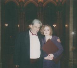 Lányával, Ágnessel a Kossuth-díj átadása után (1993)