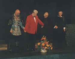 Koncz Gábor, Páskándi Géza, Sinkovits Imre és Szakácsi Sándor a Nemzeti Színház deszkáin (1993)