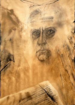 Páskándi, az utolsó sámán (Bardocz Lajos grafikája)