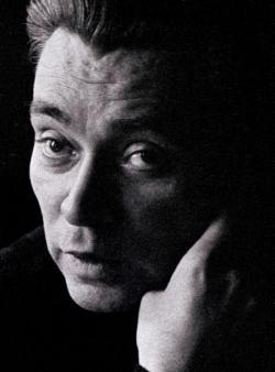 Koffán Károly felvétele a 'Meztelen arc' című Rákos-kötet elején jelent meg 1971-ben