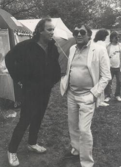 Török Ádám, a Mini frontembere és Somlyó György a 70-es évek második felében