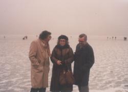 Somlyó György és Csűrös Miklós a téli Balatonon