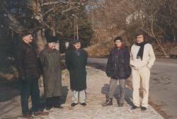 Fodor Géza, Csűrös Miklós, Várady Szabolcs és Somlyó György Szigligeten, a 90-es évek elején