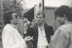 Somlyó György, Bubik István és Funtek Frigyes a 80-as évek elején